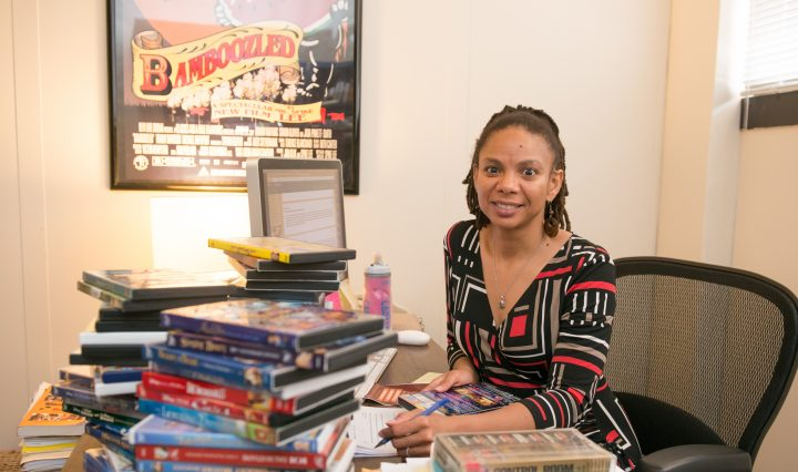 Kimberly Moffitt in her office