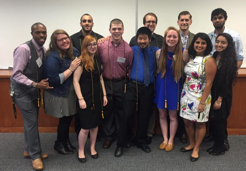 Ashby Henningsen poses with other UMBC Sondheim Public Affairs Scholar