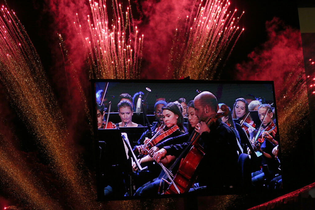 "UMBC Symphony Orchestra performs ""Firebird"" at the 50th anniversary finale."