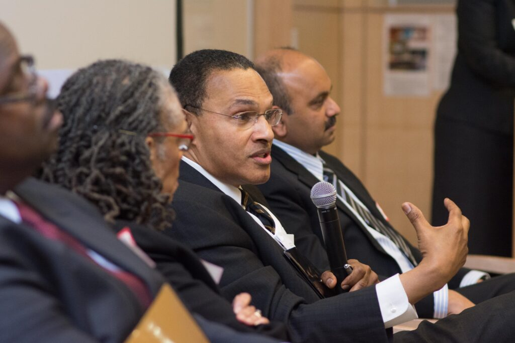 President Hrabowski participates during Baltimore Stories panel.