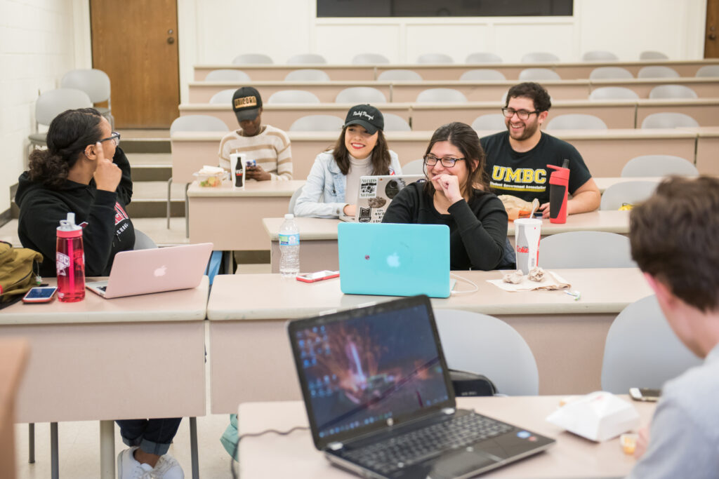 UMBC Mock Trial meets to practice