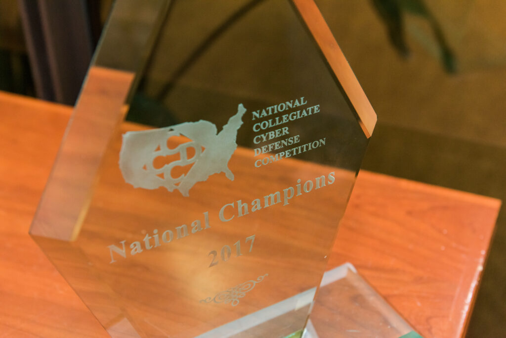 2017 National Collegiate Cyber Defense Competition trophy