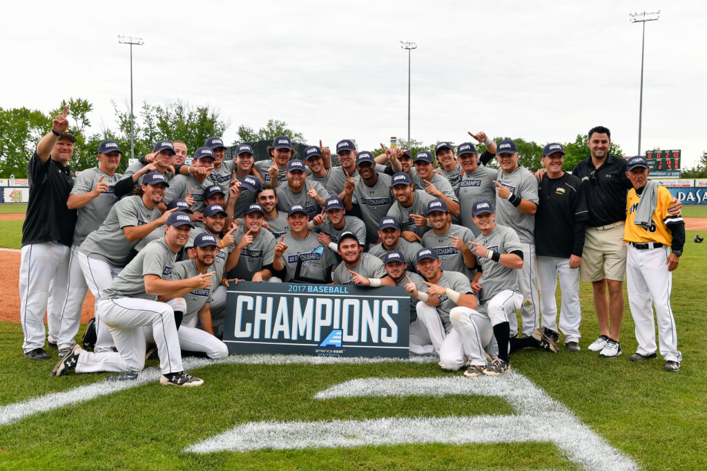 UMBC Baseball wins 2017 America East Championship. Photo courtesy of America East.