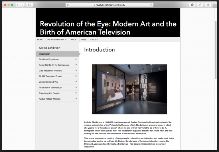 Revolution of the Eye online exhibition