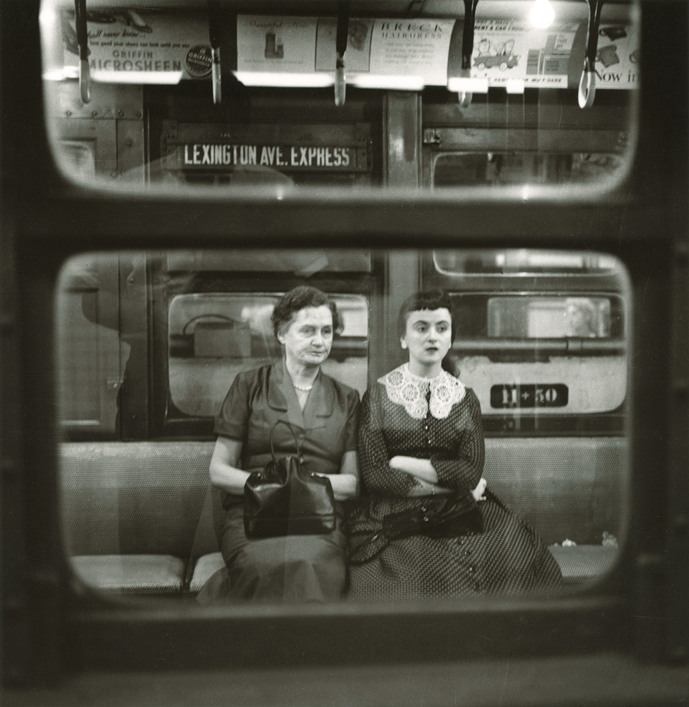 N. Jay Jaffee, Woman and Young Girl in Subway, 1951, Gelatin silver print, selenium toned, Accession no. P2012-17-012, Gift of Paula Hackeling
