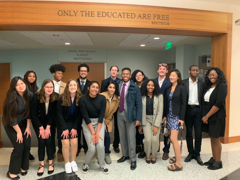 UMBC Mock Trial teams B and C at Johns Hopkins University.