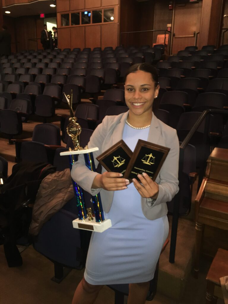 Sydney Gaskins wins two trophys at Georgetown Mock Trial.