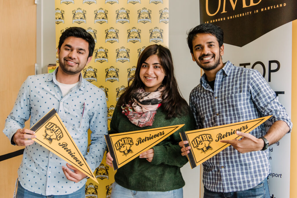 Graduate students from India officially become Retrievers during international student orientation.