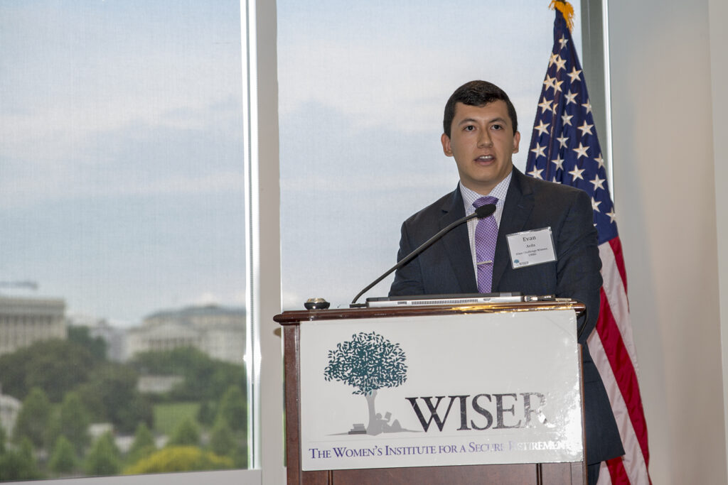 Evan Avila speaking at iOME Challenge by WISER Institute.