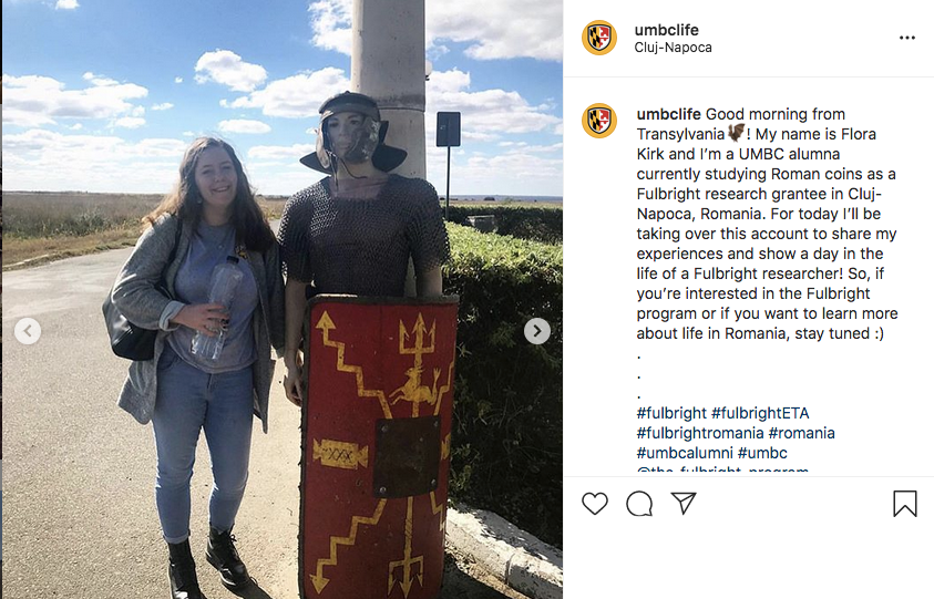 Flora Kirk '18, ancient studies, is conducting research on Roman coins at Babeș-Bolyai University (UBB) in Romania.