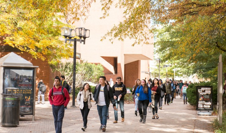 UMBC campus, fall 2015.